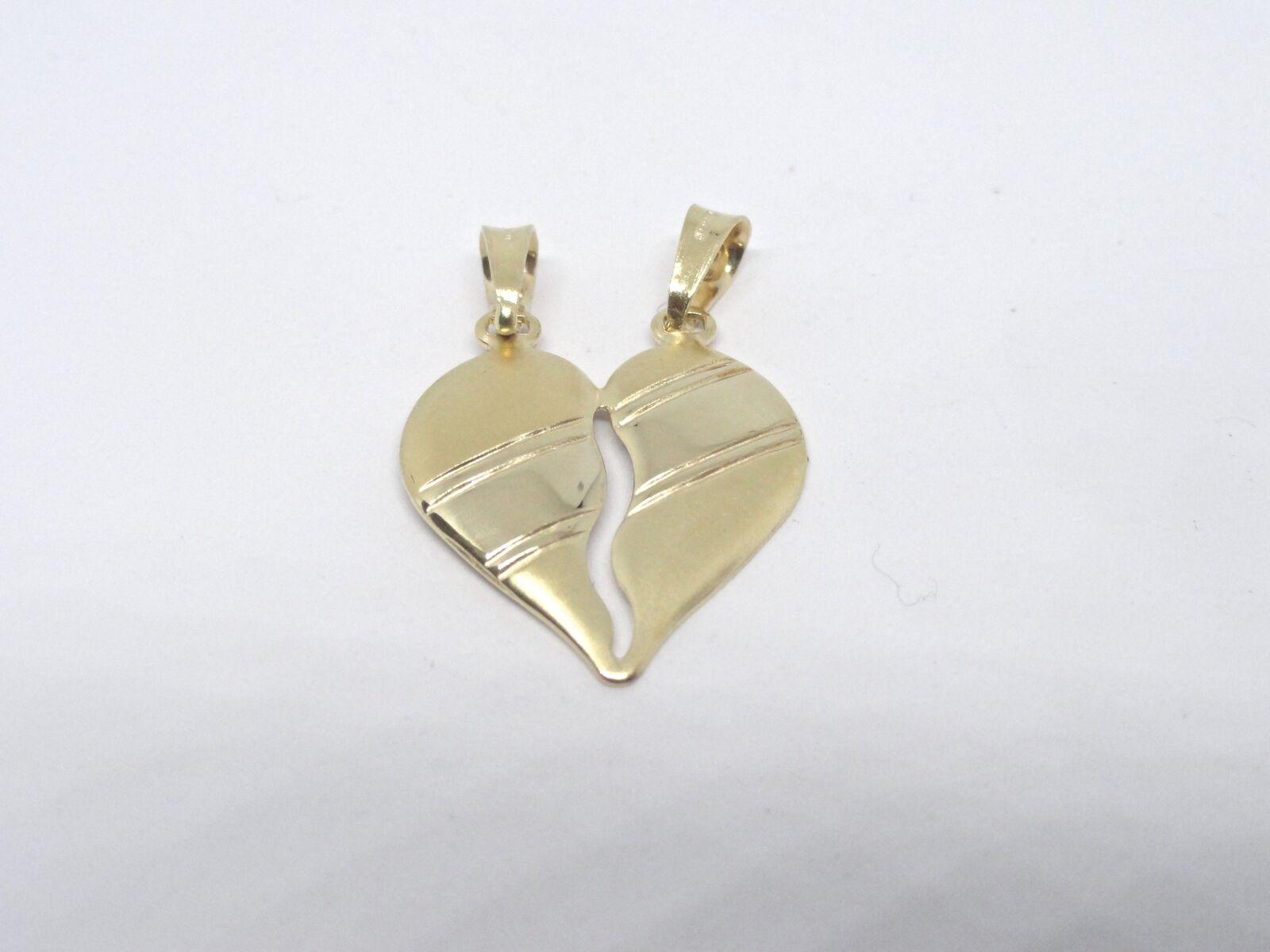 Pendaglio oro oro oro giallo 18 kt 750 cuore spezzato -1434 ST- 35b1d8