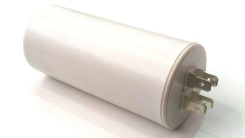 PLASTIC ROUND RUN CAPACITOR 40µF 40UF 400-500V 4 TERMINALS FREEZER ROOM FAN
