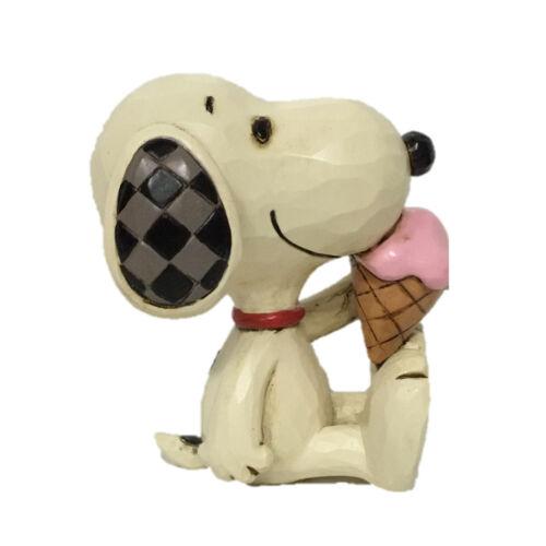 Jim Shore Mini Peanuts Figurine Summer SNOOPY with Ice Cream Cone NEW 6005953