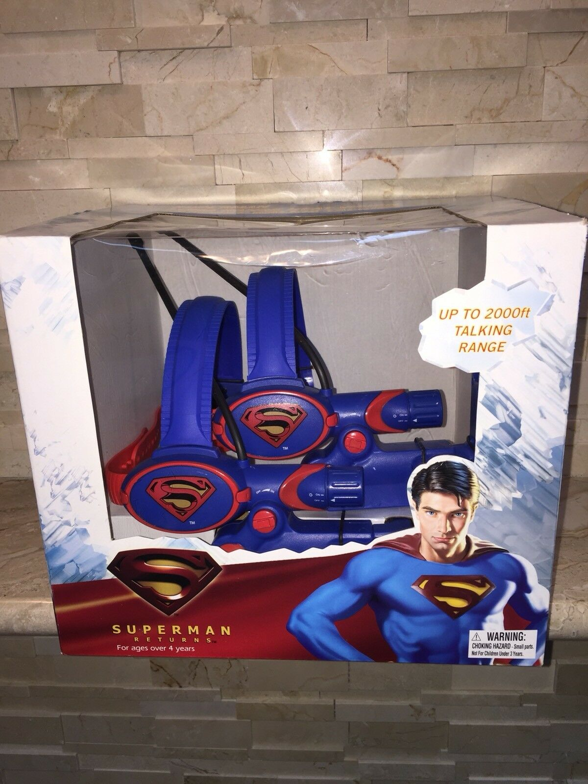SUPERMAN LONG RANGE HEAT VISION HEADSET WALKIE TALKIES