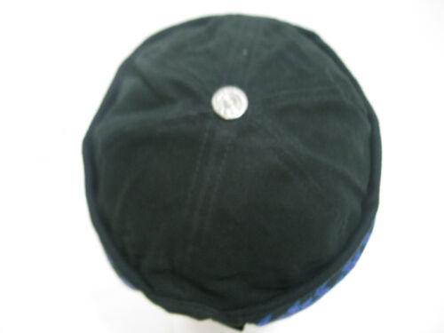 Men/'s Black Bullet Cap Beanie Blue Purple Flames Cuff Biker Hat Winter Adjust