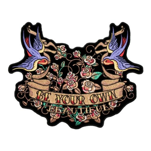 Be Your Own Beautiful Bluebird Tattoo Patch Ladies Back Patches