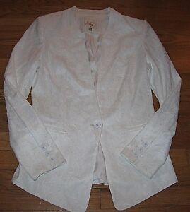 senza Bianco Blazer colletto One Blazer Giacca Lily Taglia Button Piccola donna da Eccellente 6SwqnnO0