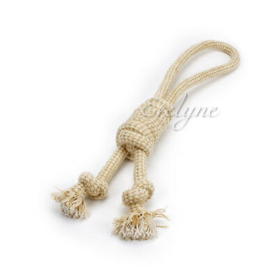 Pet Chewing Toys Heaving Knot Hemp Rope with Dual Stopper