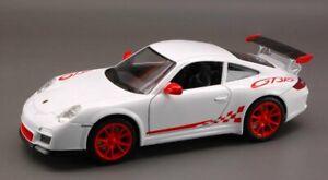 Yat-MING-SCALA-1-24-PORSCHE-911-997-GT3-RS-2010-Bianco-modello-replica-auto