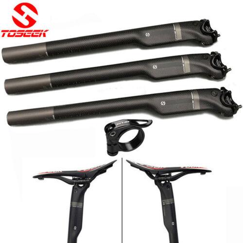 TOSEEK Full Carbon MTB Road Bike Seatpost Bicycle Seat Tube 27.2//30.8//31.6mm