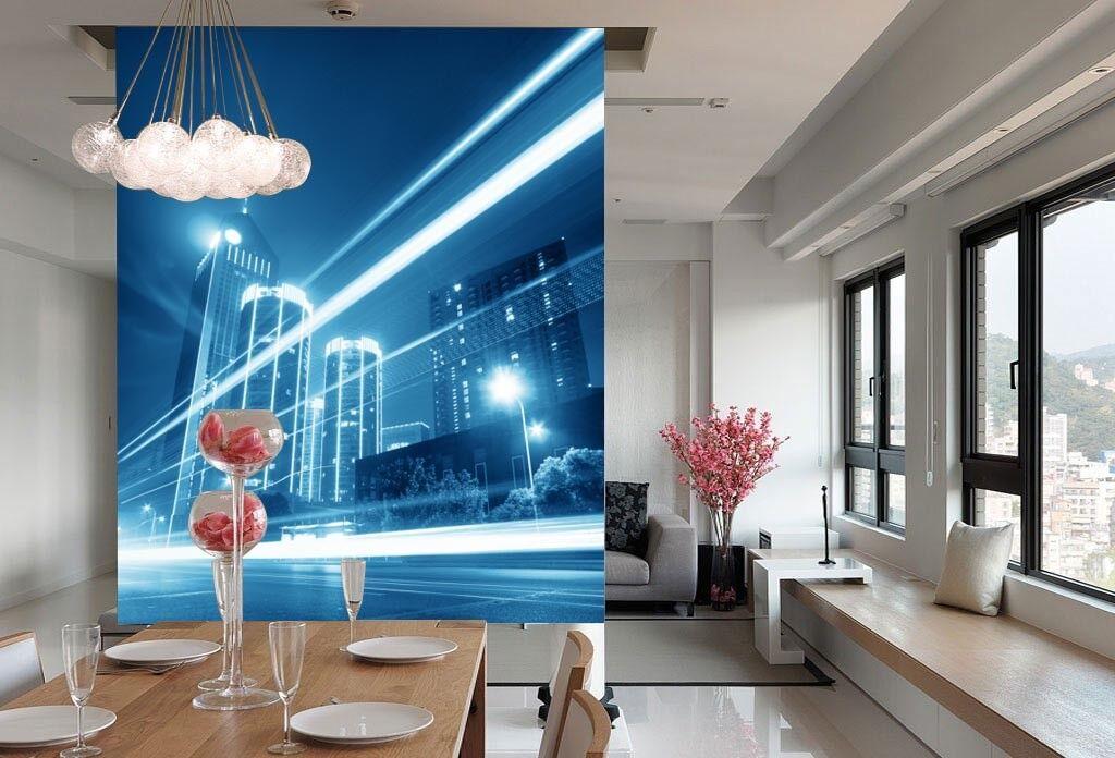 3D Schöne Stadt Nachtszene 73 Tapete Wandgemälde Tapete Tapeten Bild Familie DE