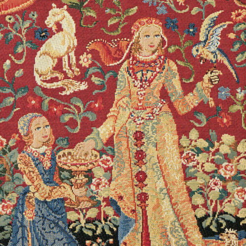 Belgian Tapestries Kissenhülle 45 X 45 cm Gobelin Unicorn the Taste