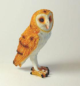 Resin Barn Owl Ornament, 13 cm