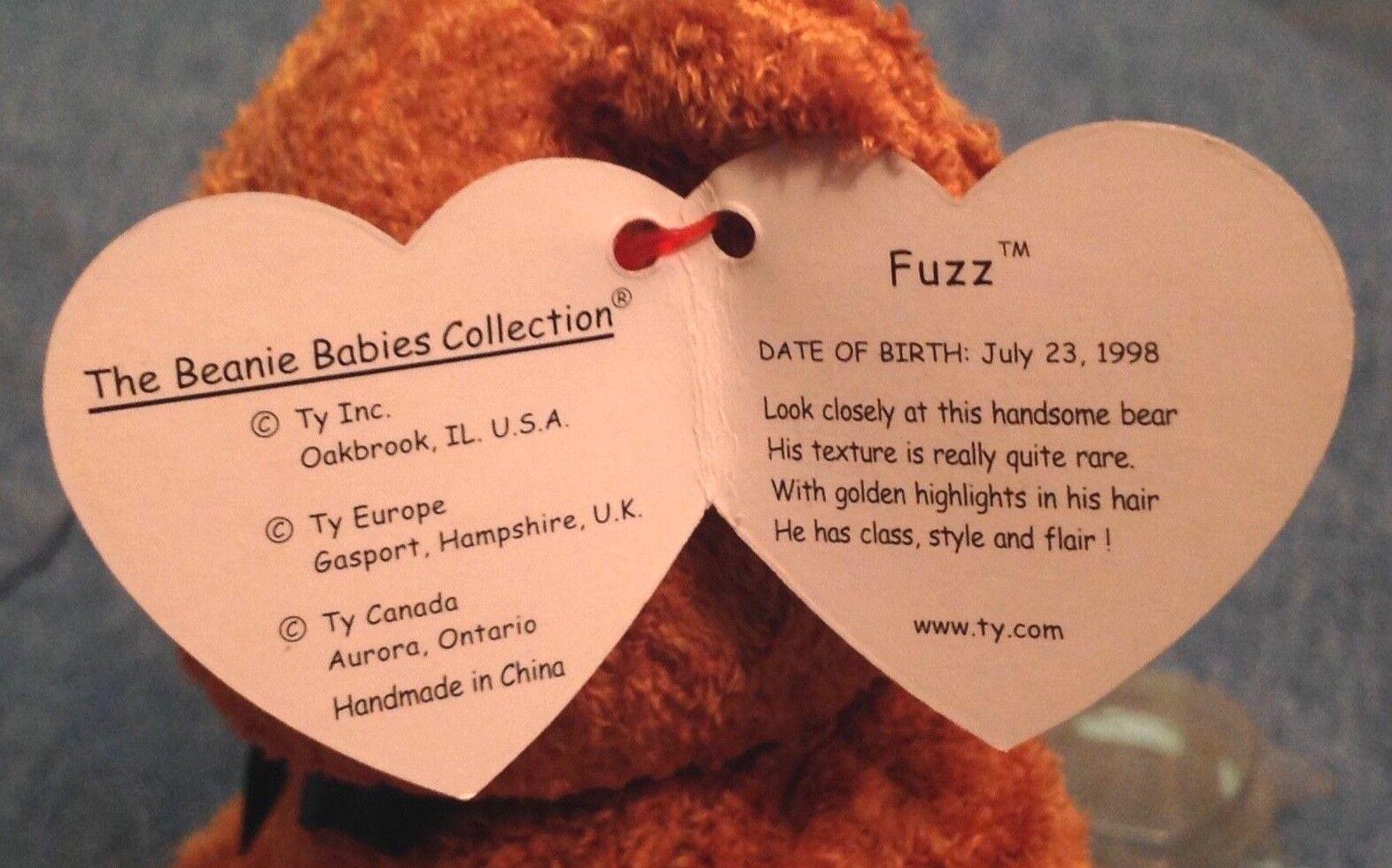 SET OF 2 2 2 TY SUPER SOFT MINT BEANIE BEARS = (1998) FUZZ & (2000) MELLOW -SEE PICS 30ebd8