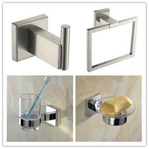 304 Stainless Steel Square Modern Chrome Bathroom Wall