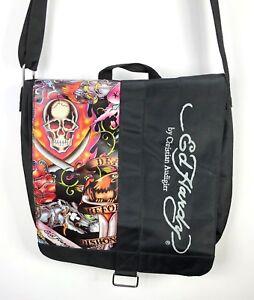 Ed Hardy by Christian Audigier Messenger Shoulder Bag Death Dishonor ... 51d3c62729130