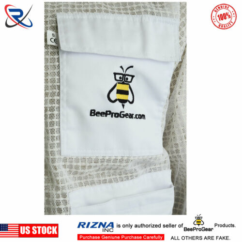 3 Layer Ultra Ventilated bee beekeeper beekeeping jacket  Round Veil 2XL-#BS25