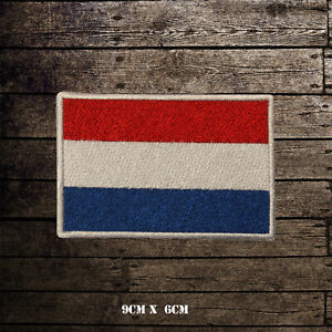 NETHERLAND-Flag-Embroidered-Iron-On-Sew-On-Patch-Badge-For-Clothes-Etc