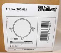 VAILLANT 303821 BOX OF 5 FLUE SUPPORT CLIPS 100mm DIAMETER FREE POST VAT INCL