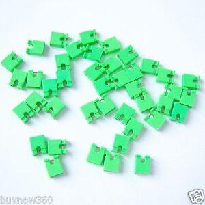 "500 PCS Mini Jumper Plug for 2.54mm 0.1"" Inch Pin Header Spacing Shunt Green P24"