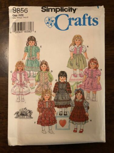 """American Girl Simplicity 9856 18/"""" Doll Clothes My Life Our Generation Uncut"""