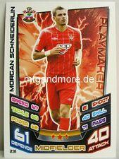 Match Attax 2012/13 Premier League - #231 Morgan Schneiderlin - Southampton