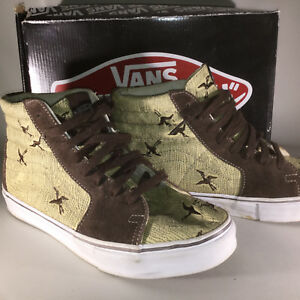 Lx High Sk8 Series Artist Khaki 9 Vans wind Birds Rare espresso Collaboration 1qwaC7E56