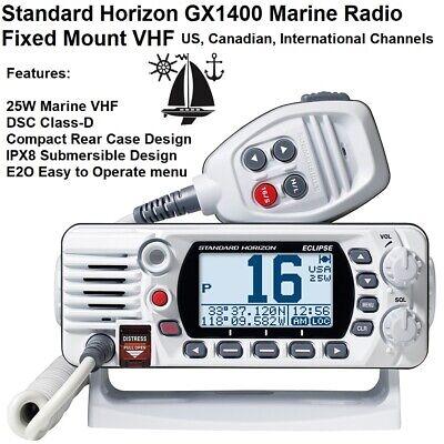Standard Horizon GX1400 Eclipse Fixed Mount VHF Radio White