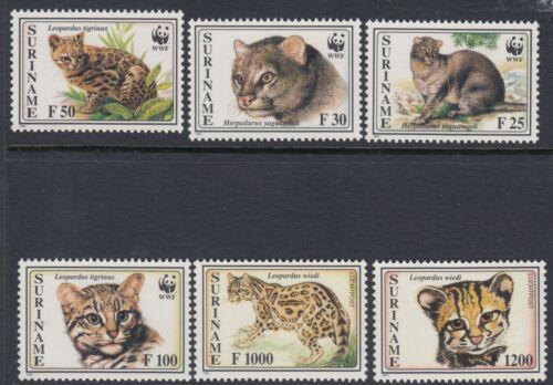 CATS :SURINAM 1995 Big Cats/WWF set SG 1631-6 nh mint