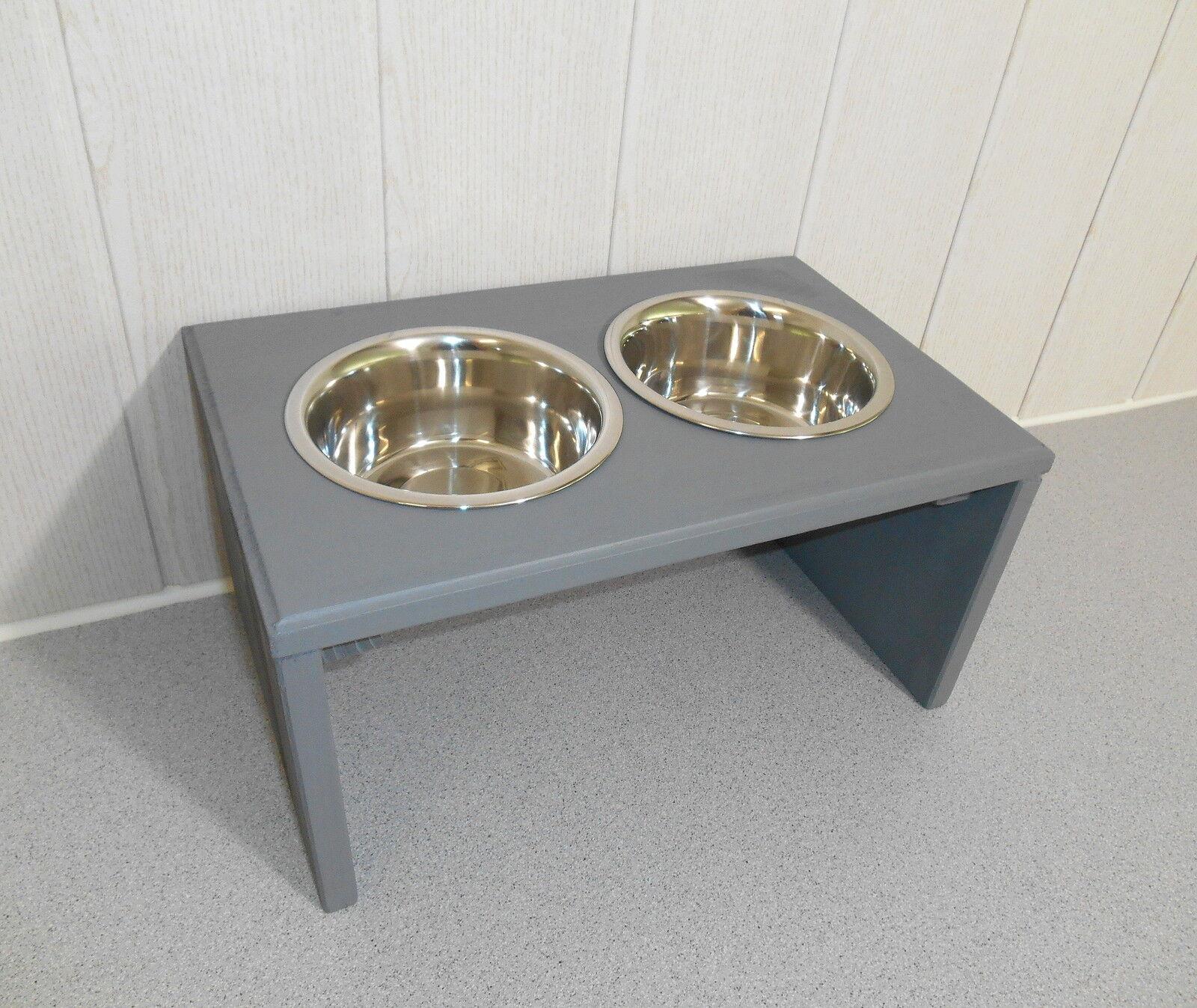 Hundenapf   Hundebar   Futternapf   Buche-Napf, grau, Jede Farbe möglich (920)
