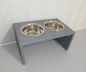 Bol pour chien / Bol pour chien Bol à nourriture en hêtre, gris, toutes les couleurs possibles (920)