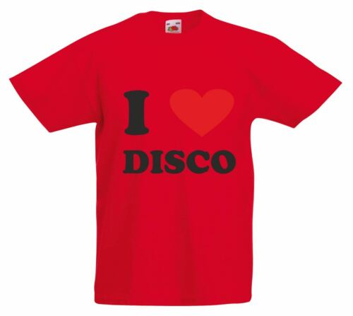 I Love heart disco Kids Printed T-Shirt