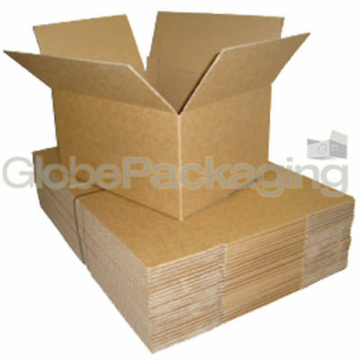 "10 x MAILING POSTAL CARDBOARD BOXES 12""x9""x6"" A4 SIZE"