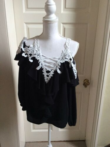Uk Top Trim Shoulder Fit Faust 10 With 12 Black Cold White qwPqYt8x
