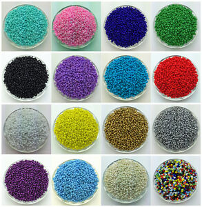 NEW-DIY-2MM-3MM-4MM-Size-Glass-With-silve-Seed-Spacer-beads-Jewelry-Fitting-Y