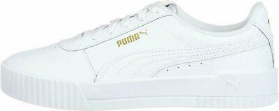 PUMA Carina Lux Puma White Women's Leather Platform Sneakers 37028102 | eBay