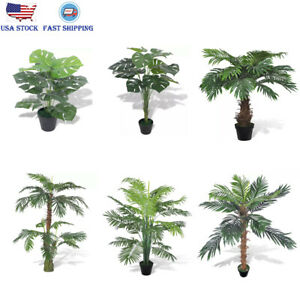 Details about Artificial Plant Fake Tree Home Garden Office Green Plant  Flower Livingroom Deor