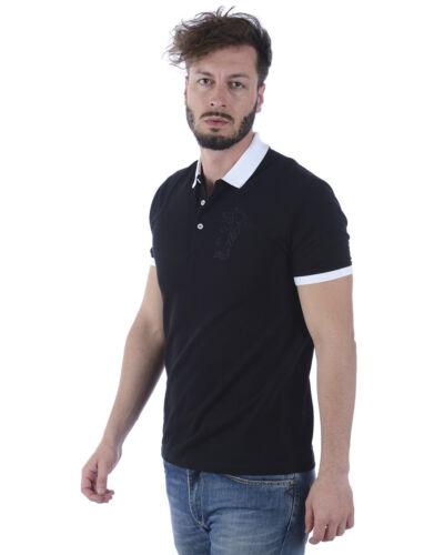 Polo Versace Collection Shirt Cotone Uomo Nero V800604SV5J300 V7008