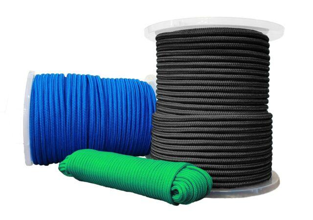 Leine Faserseil UHMWPE Seil Dyneema PRO 10mm 20m geflochten schwarz
