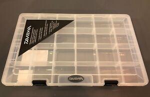 Daiwa D-Vec Storage Case Tackle Box Clear Plastic Stowaway tackle storage BOX