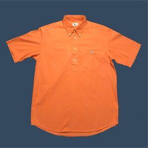 Mens-Vintage-Lacoste-Polo-Shirt-Medium-3-Orange-Short-Sleeve