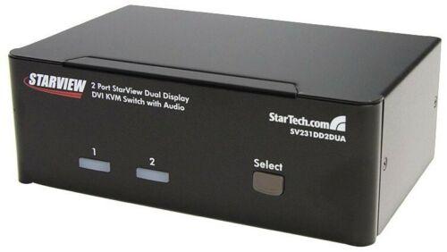StarTech.com 2 Port Dual DVI USB KVM Switch w// Audio /& USB Hub SV231DD2DUA