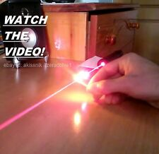 High Power Red Laser Pointer Pen Focusable Beam Light 650nm Wicked Burning Lazer