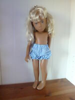 Bjb Dolls Clothes, Blue Gingham Check Knickers Pants Fit 16 Sasha Girl Doll
