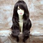 Beautiful Heat Resistant Dark Coffee Brown Long Wavy Ladies Wigs From WIWIGS UK