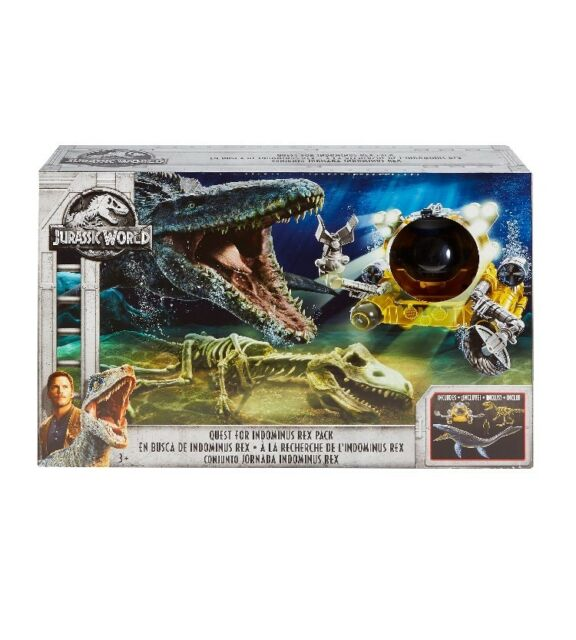 Jurassic World Exclusive Quest for indominus Rex Set mosasarus Jurassic Park NEUF