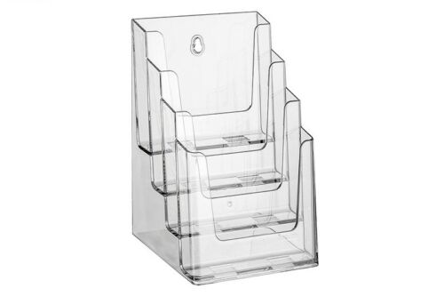 Prospekthalter Prospektständer Flyerhalter 4x DIN Lang DIN A5 mit 4 Etagen