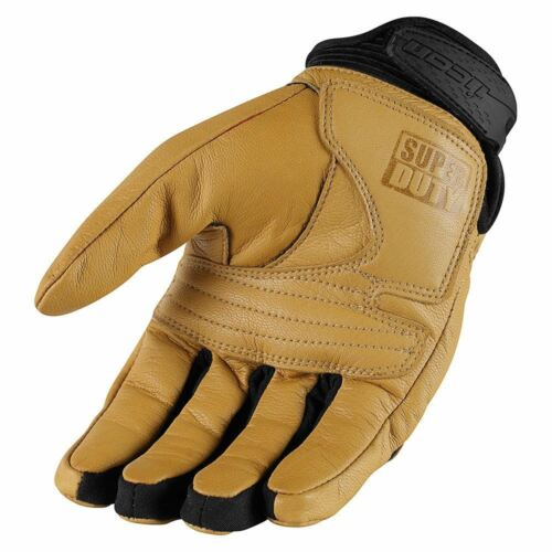 Icon Superduty Tan Motorcycle Gloves