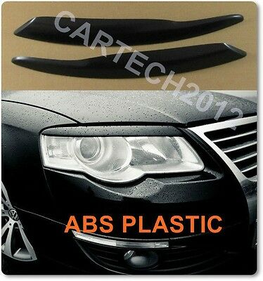 VW Passat B6 3C 2005-2010 Eyebrows Headlights Spoiler ABS PLASTIC, tuning