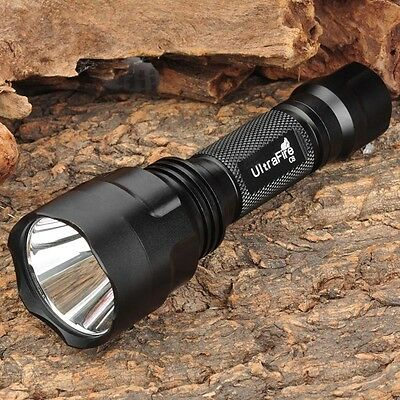 UltraFire C8 CREE T6 LED Flashlight  2200LM 18650 Torch Lamp 5 Mode Camp Light