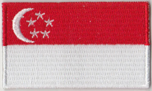 Singapore Country Flag Embroidered Patch T4