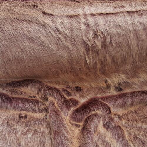 Webpelz pelo largo acogedora piel sintética sustancias decoración morado//rosa nb4529