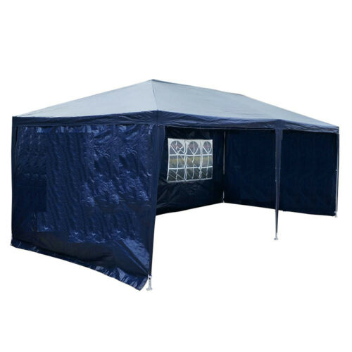 6x3m Gazebo Marquee Party Tent Garden Patio Outdoor Wedding Canopy+4//6 Sidewalls