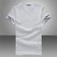 Men-039-s-V-Neck-Round-Neck-cotton-T-shirt-Slim-Fit-Short-Sleeve-Solid-Color-Casual